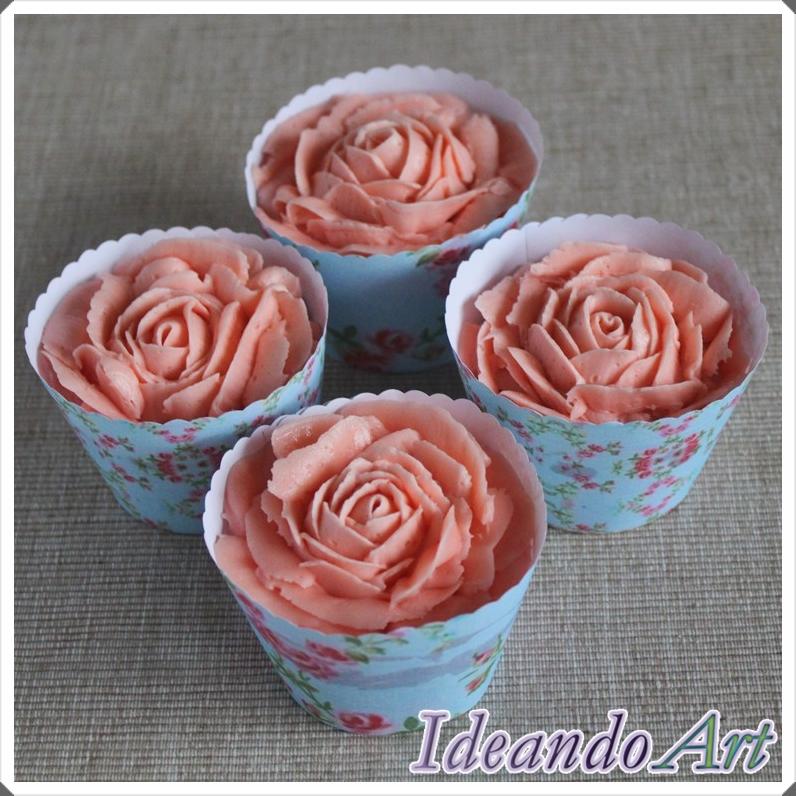 Cupcakes rosas buttercream