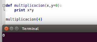 Asignando valor a un argumento en Python
