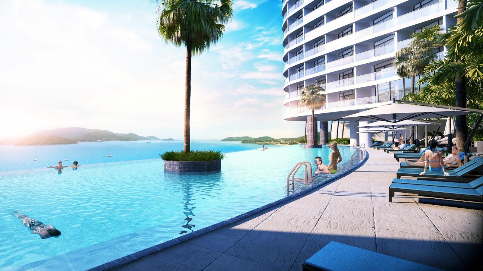 Bể bơi đẳng cấp của dự án condotel Beau Rivage Trần Phú