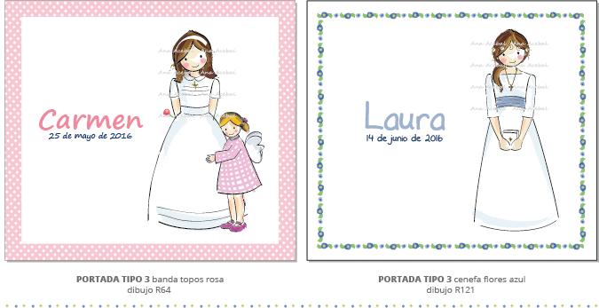 libro comunion personalizado niña estilo