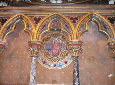 decori policromi nella Sainte Chapelle