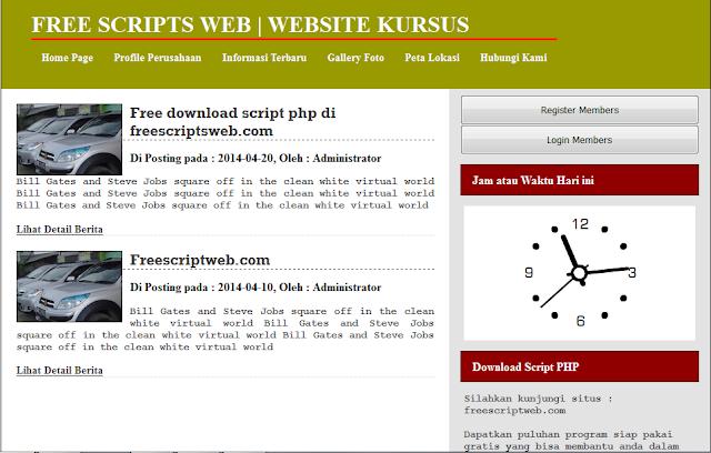 free download script website