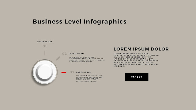 Business Level Infographics Free PowerPoint Template Slide 1