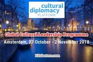 Global Cultural Leadership Programme in Amsterdam for International Youth, 2018
