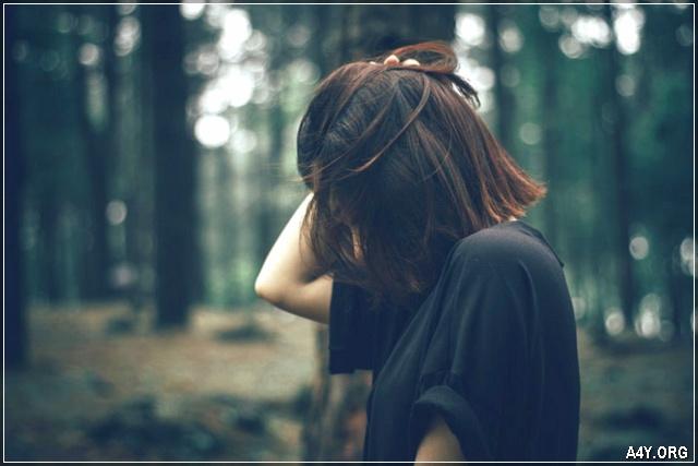 cô gái buồn bã