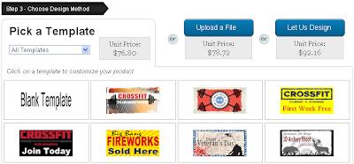 Choose Banner Design Method: Pick a Template or Upload a File
