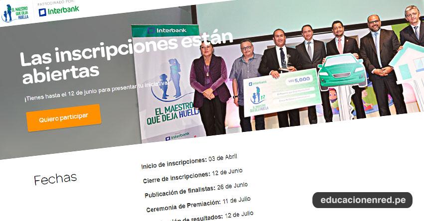 MAESTRO QUE DEJA HUELLA 2019: Inscripción al concurso hasta el 12 de Junio - www.maestroquedejahuella.com.pe