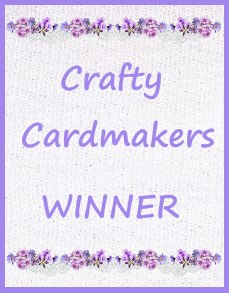 Winner at Crafty Cardmakers Challenge