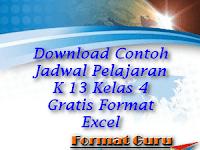 Download Contoh Jadwal Pelajaran K 13 Kelas 4 Gratis Format Excel