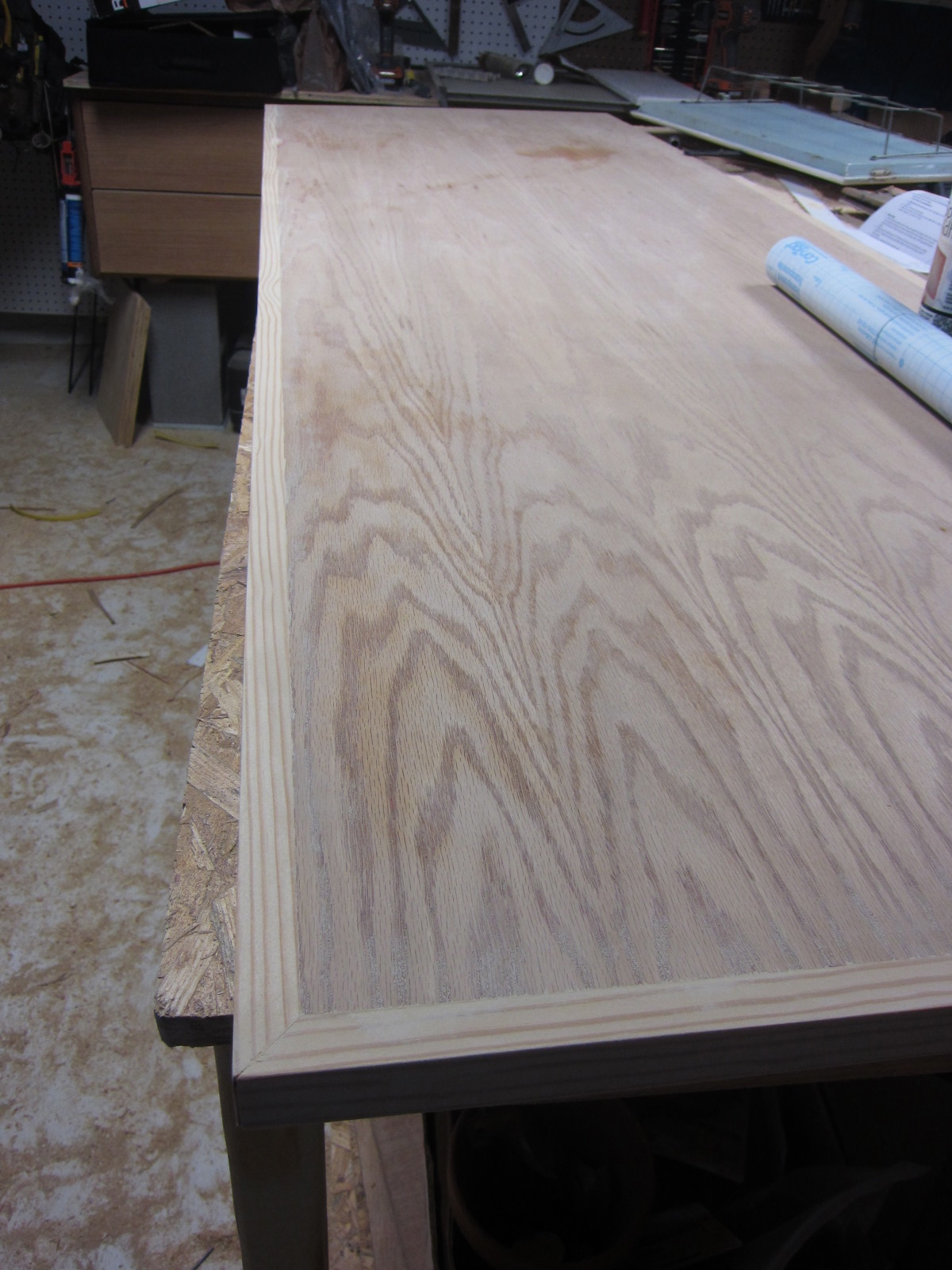 Painted Plywood Kitchen Countertops