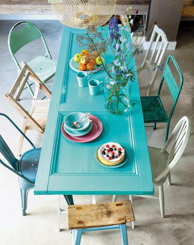 aqua door table