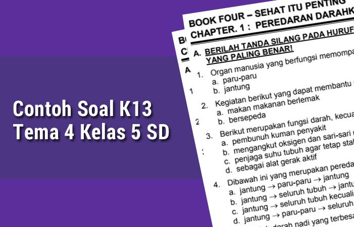 Contoh Soal K13 Tema 4 Kelas 5 SD