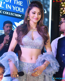 Urvashi Rautela sizzling Beauty Queen Spicy Silver Choli .xyz Exclusive Pics 006
