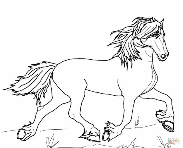 Click The Friesian Horse Coloring Pages