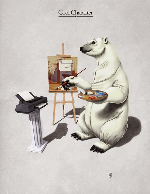 26-The-Untapped-Behaviour-Rob-Snow-Animal-Illustrations-Play-on-Words-www-designstack-co
