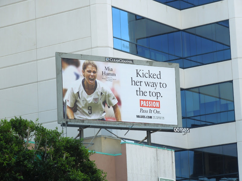 Mia Hamm Passion Values billboard
