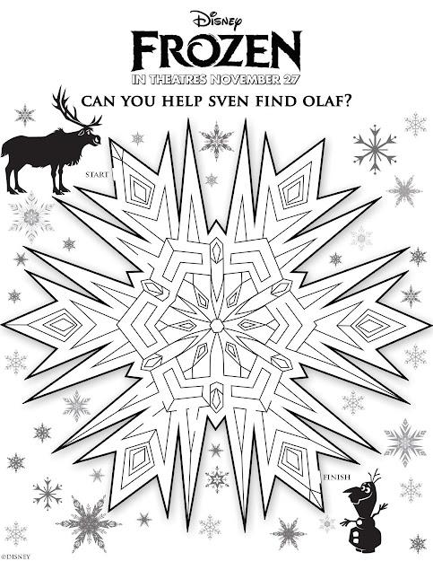 Disney Frozen Help Sven Find Olaf Maze Printable