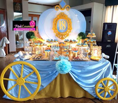 Elegant Cinderella Themed Dessert buffet