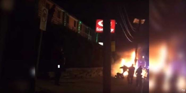 Jersey City cops caught on kicking and beating innocent bystander near scene of fiery crash