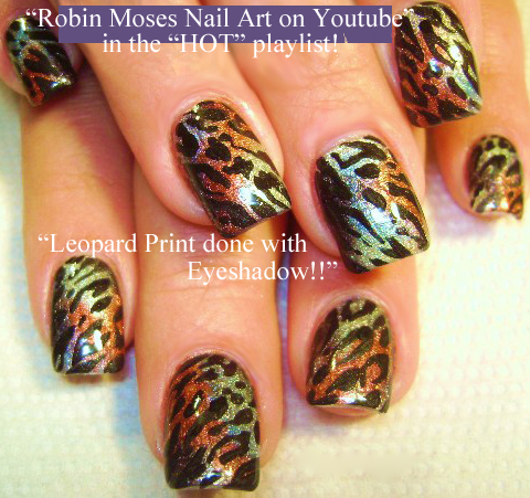 Nail Art By Robin Moses Lime Green Nails With Rainbow Animal Print