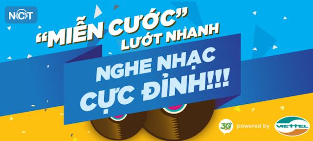 Đăng ký gói nghe nhạc nhacuatui.com mạng Viettel 2017 với 2k/ngày