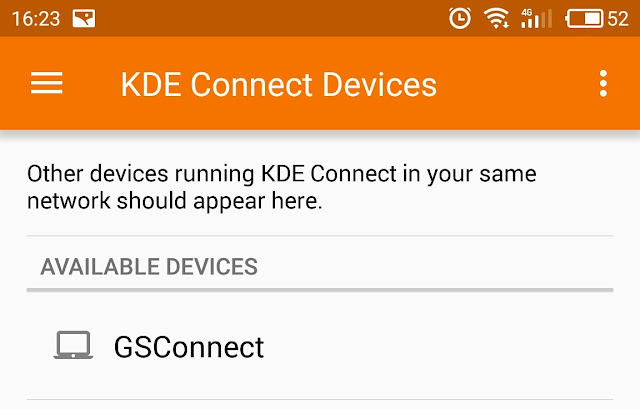 KDE Connect pair mobile