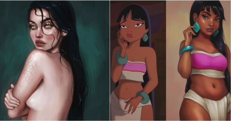 Artist Transforms Famous Cartoon Characters Into Gorgeous Women