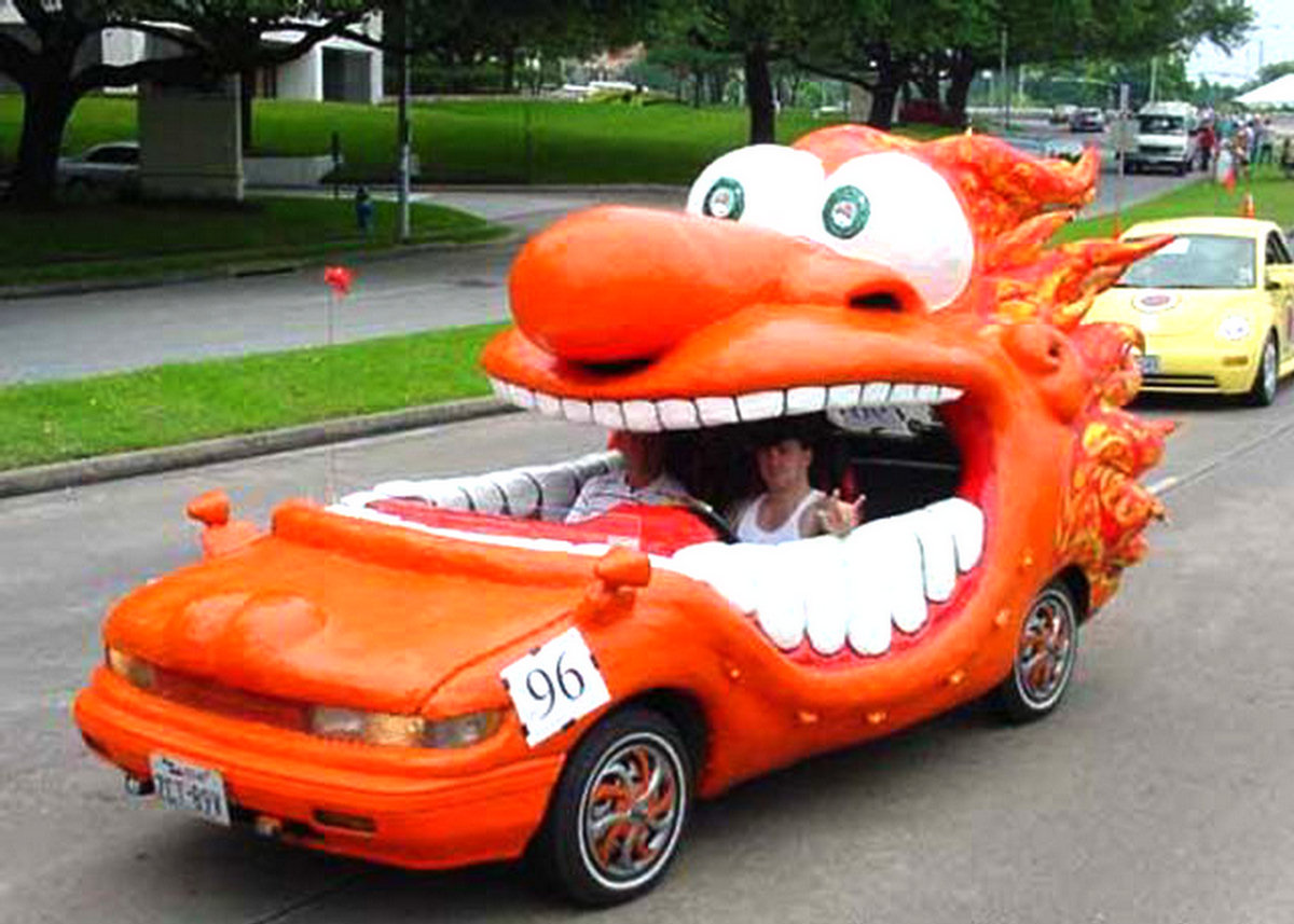 fun strange vehicle vehicles cars funny crazy cool silly looking fast funniest ever orange face weird cartoon designs really mouth