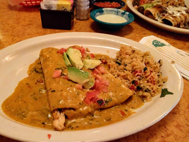Enchilada platter from Chuy's Tex-Mex in Austin, Texas