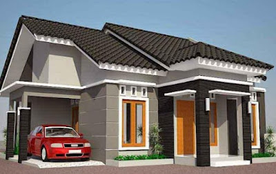 bentuk atap pelana dan perisai rumah minimalis