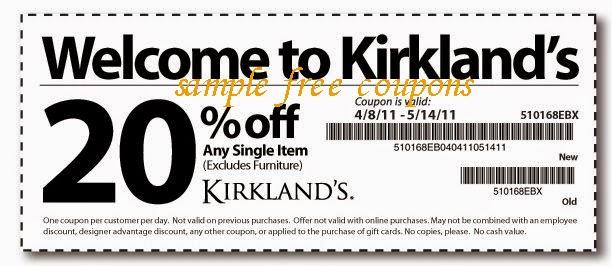 Kirklands Coupons May 2014