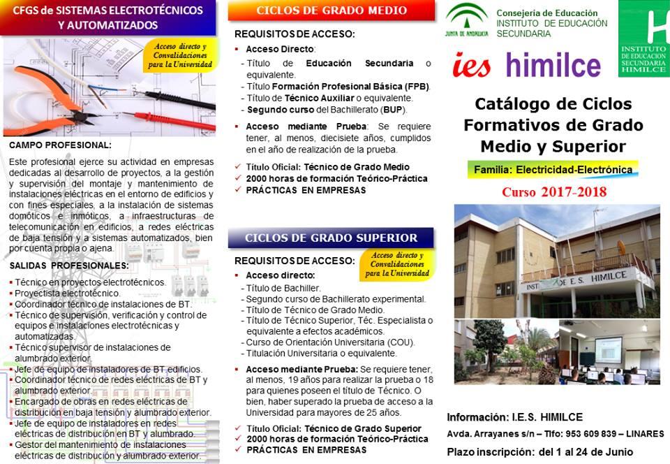 Ibros El Kiosco Rojo Catalogo De Ciclos Formativos De