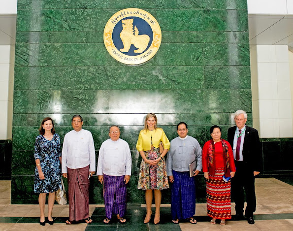 Queen Máxima of The Netherlands attended the meeting of the Financial Inclusion Roadmap in the Nay Pyi Taw