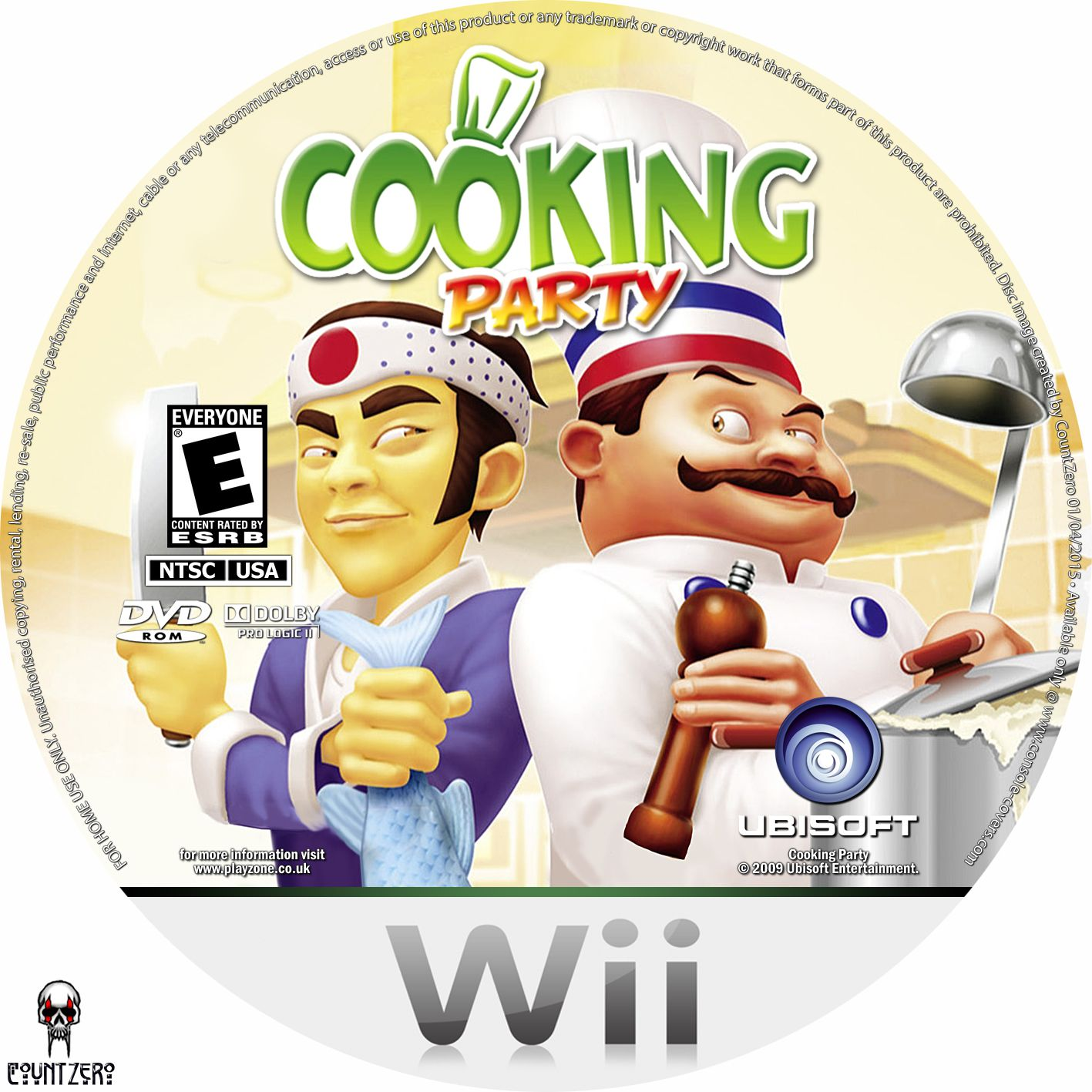 Label Cooking Party Wii