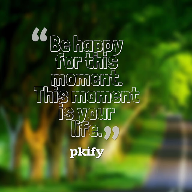 Be Happy for This Moment This Moment Is Your Life Life Quotes