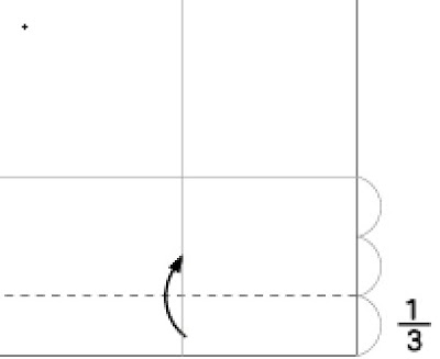 Step 2: Fold in the dotted line