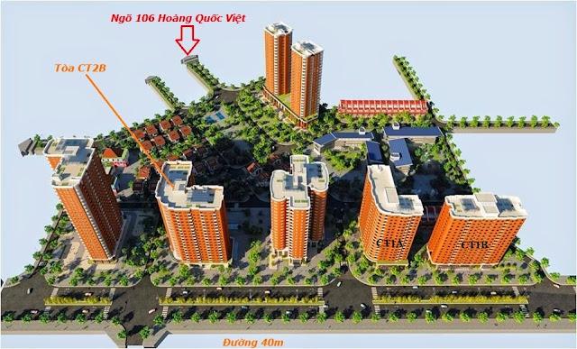 Vị trí các tòa CT1A, CT1B trong dự án