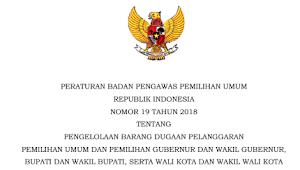 Download PERBAWASLU RI Nomor 19 Tahun 2018