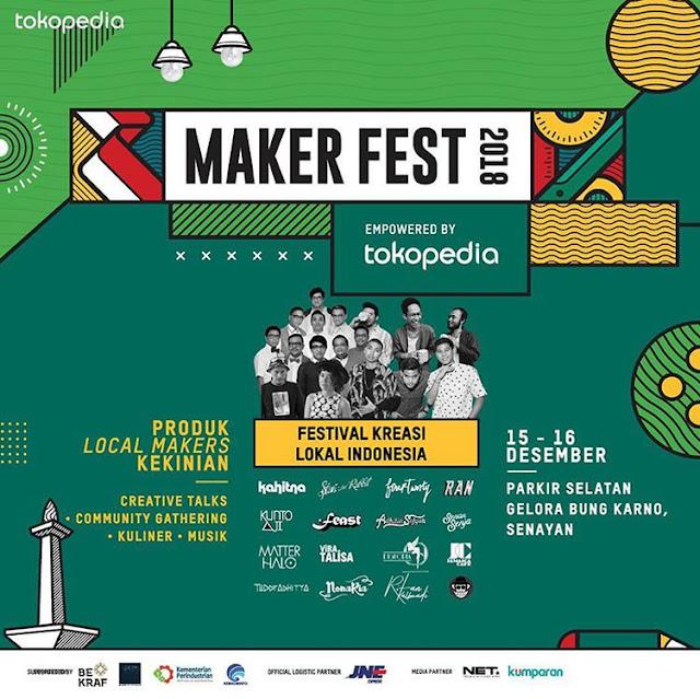 Hari Ini, Festival 1001 Gerobak Kuliner & MakerFest 2018 di GBK