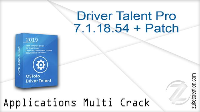Driver Talent Pro 7.1.18.54 + Patch