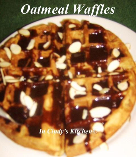 In Cindy S Kitchen Oatmeal Waffles Breakfast Is Served