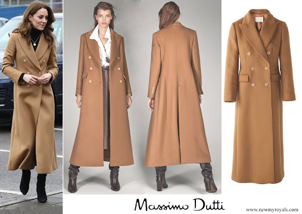 Kate Middleton wore massimo dutti cashmere wool camel coat