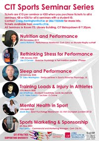 Sports Seminar Series in Cork City - Dec 2019 to May 2020