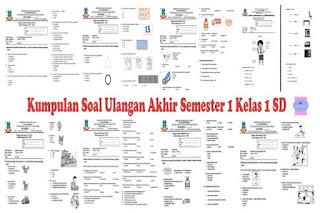 Kumpulan Soal Ulangan Akhir Semester 1 (UAS) Kelas 1 SD