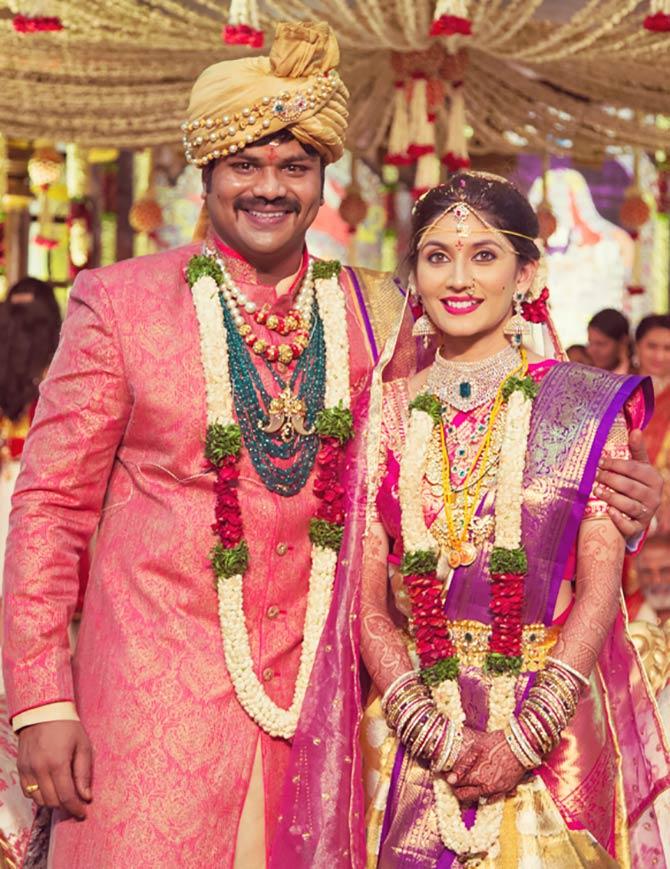 Manoj Manchu and Pranathi Reddy, Manoj Manchu and Pranathi Reddy Wedding Pics
