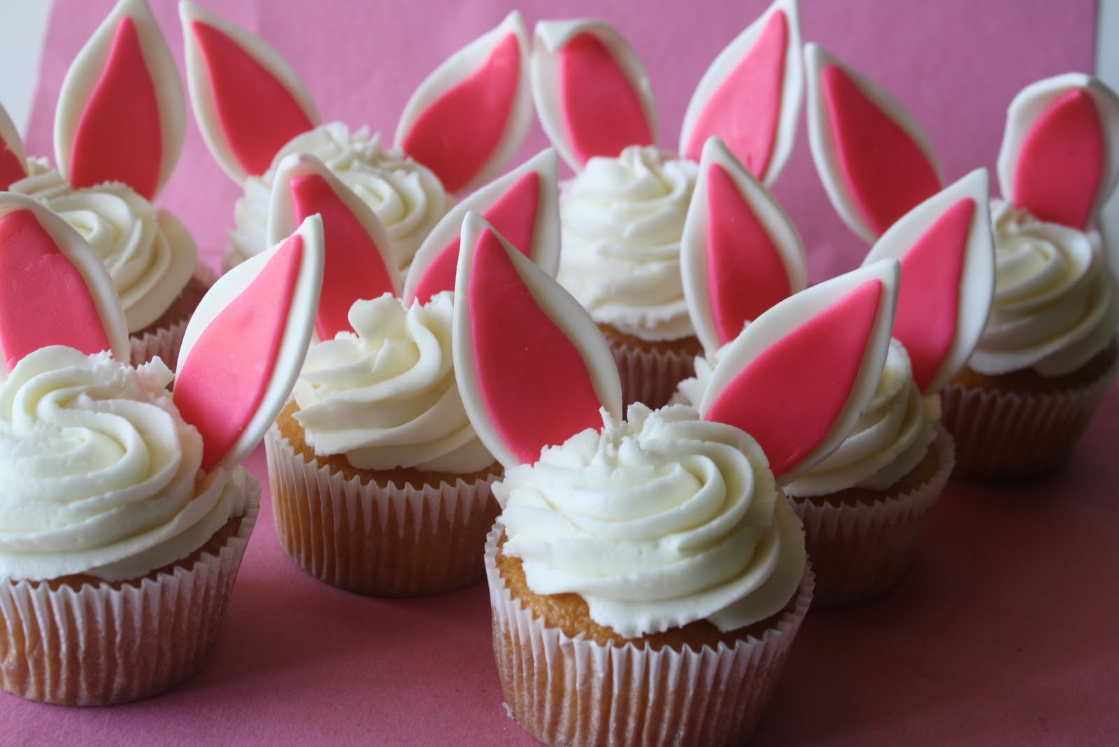 Easter With Easter Bunny Cake, Bunny Cupcakes, & Easter Egg Cookies