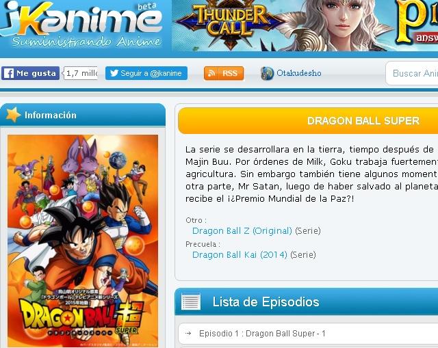 JKanime Dragon Ball Super - Solo Nuevas