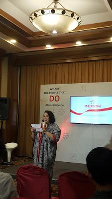 MC Ibu Kamilia membuka acara tepat pukul 10 pagi.