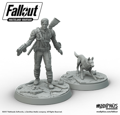 fallout miniatures game vault survivor and dogmeat