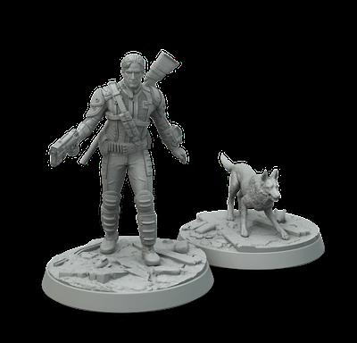 fallout miniatures game vault survivor and dogmeat